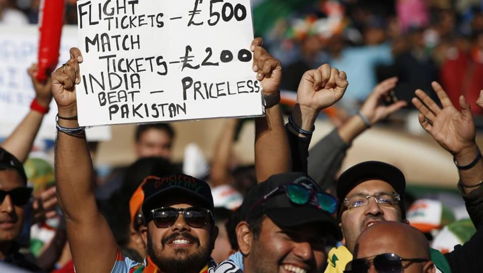 Indian cricket team fans at Edgbaston, Birmingham on Sunday. India routed Pakistan cricket team by 124 runs in their ICC Champions Trophy 2017 opener. Imran Khan has flayed Pakistan cricket
