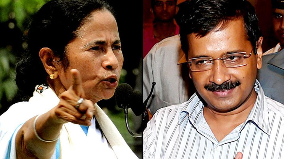 West Bengal chief minister Mamata Banerjee and her Delhi counterpart Arvind Kejriwal hit out at the Centre for the CBI raids on NDTV promoter Prannoy Roy.
