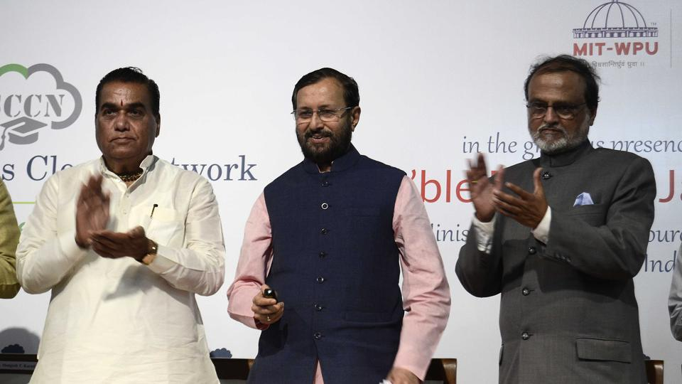 Union minister for Human Resource and Development, Government of India Mr. Prakash Javadekar inaugurated the Smart Campus Cloud Network on the occassion of World Enviorment day at MIT on Monday.