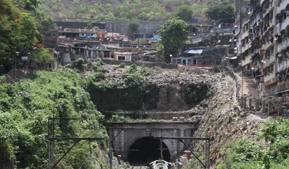 The Parsik Tunnel is located on the Thane-Kalyan line of the Central Railway.