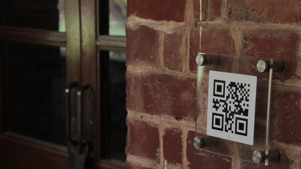 A 'Digital Vision' signage, one of the 100 installed at Miranda House.