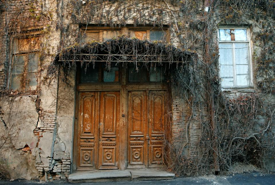 A front door of an old house is seen in the old town, Tbilisi, Georgia. Lying beneath the imposing Narikala Fortress, the buildings of Old Tbilisi, the Georgian capital's historic quarter, for centuries reflected the city's rule by Mongols, Arabs, Turks and Russians. (David Mdzinarishvili / REUTERS)