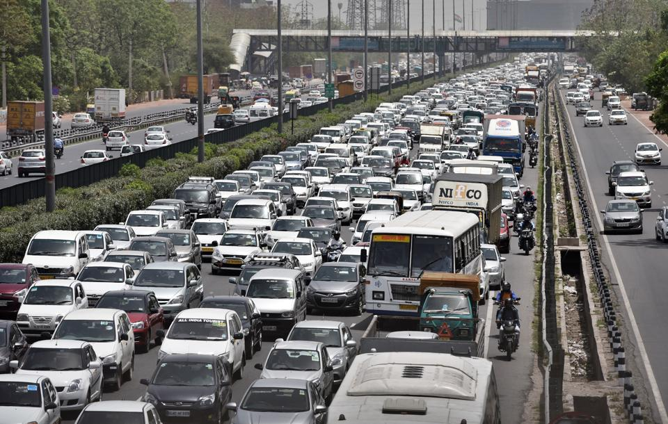 Route diversions near Signature Tower led to a lengthy traffic jam on Monday.