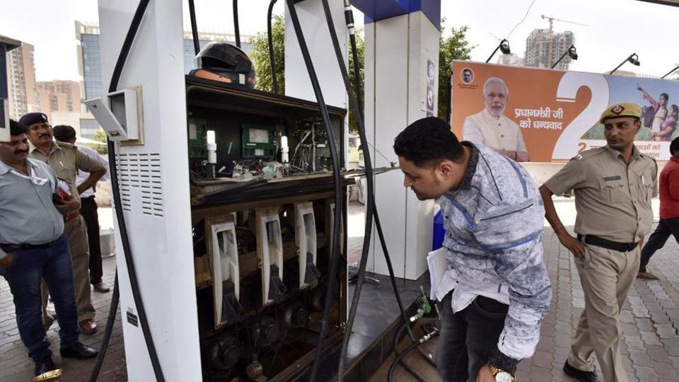 In the second phase of the drive, the administration has checked about 50 petrol pumps.