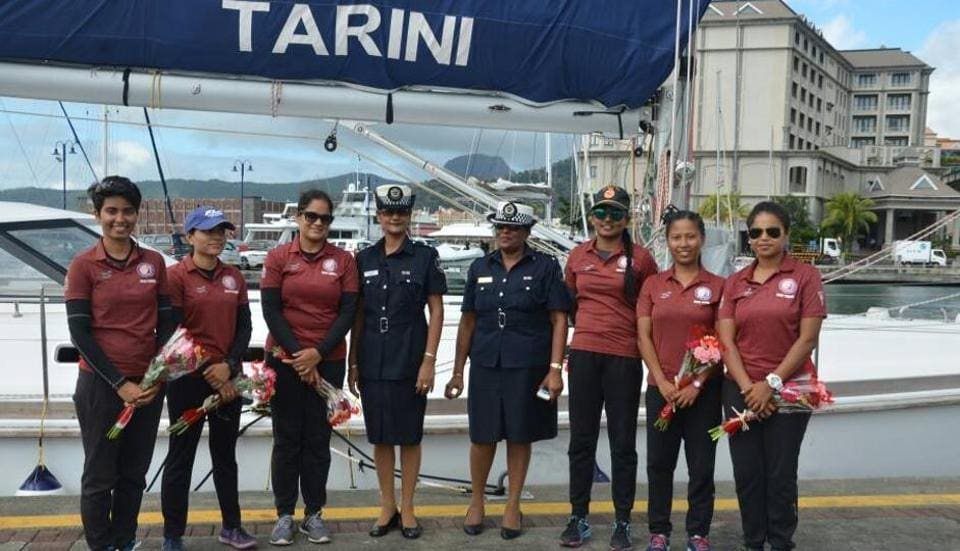 An all-woman crew sailed the INSV Tarini to Mauritus.