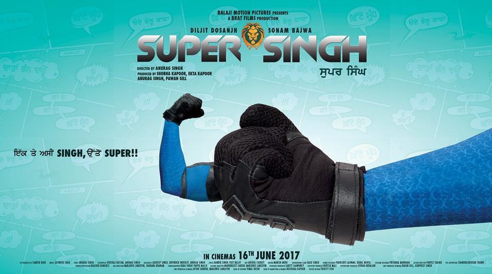 Super Singh stars Diljit Dosanjh as a superhero.