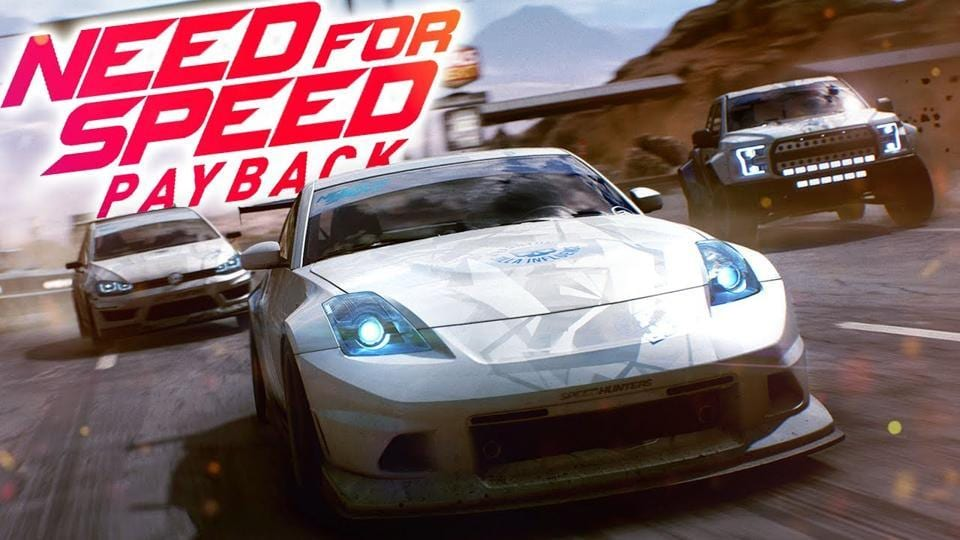 A still from the announcement trailer of Need For Speed Payback.