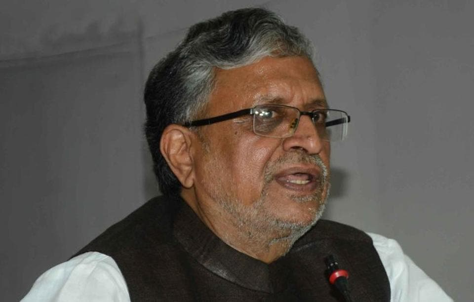 BJP leader Sushil Kumar Modi (in picture) is continuing with his attack on the Lalu family, pertaining to acquisition of illegal property he first launched on April 4.