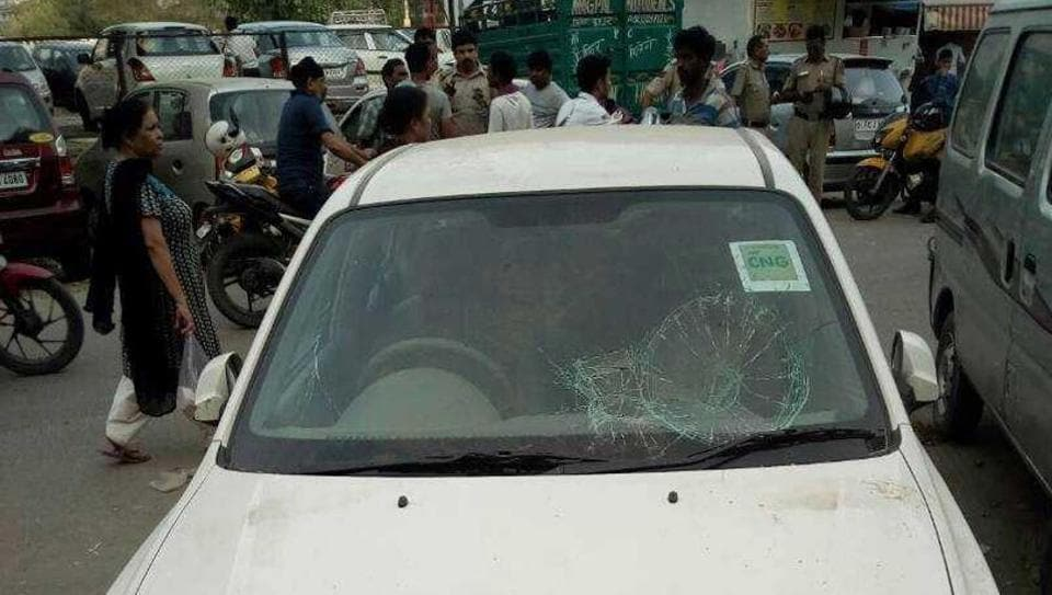 The boy was found in a car parked outside his house in Rani Bag, near Rohini, at around 4pm.