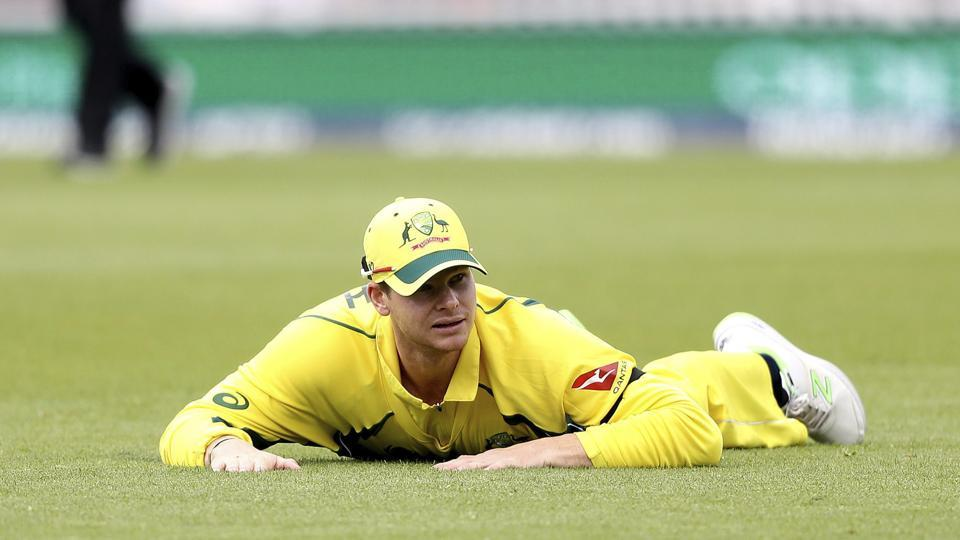Australia cricket team  captain Steve Smith after a fielding miss during the washed out ICC Champions Trophy Group A match against Bangladesh cricket team at The Oval in London on Monday.