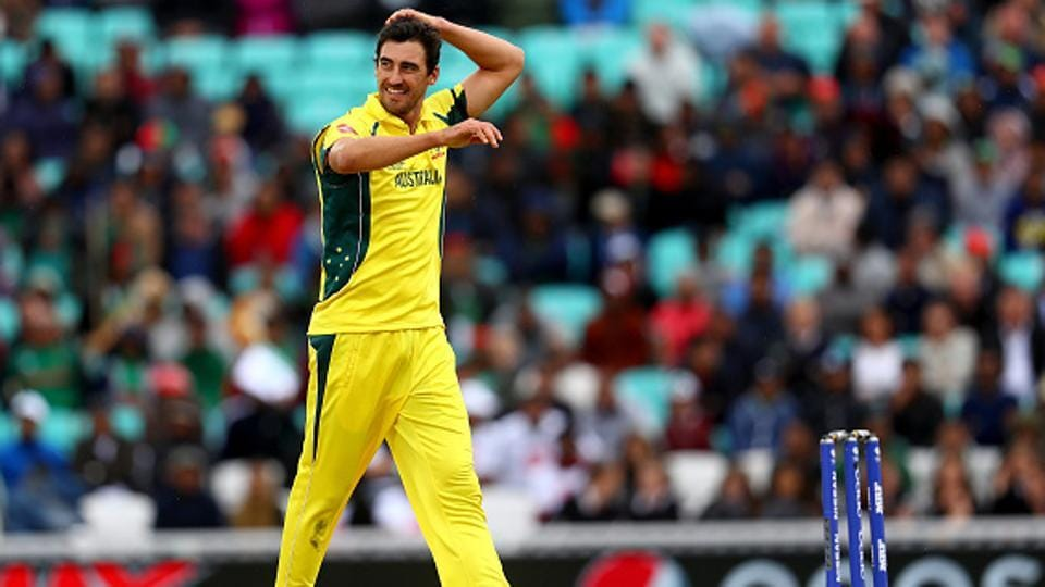 Mitchell Starc delivered a triple-wicket maiden over as Bangladesh were bundled out for 182 in 44.3 overs.  (Getty Images)