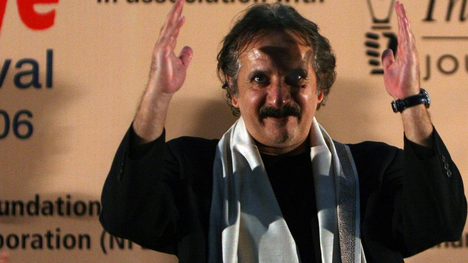 Filmmaker Majid Majidi at the poster launch of Beyond The Clouds in Cannes 2017.