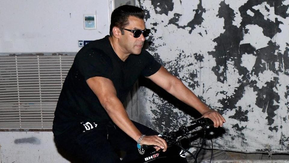 Mumbai: Bollywood actor Salman Khan during the launch of 'Being Human Electric Cycle', in Mumbai.