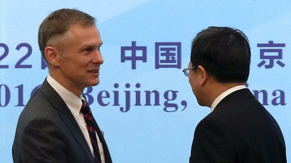 US embassy charge d'affaires in Beijing David Rank.