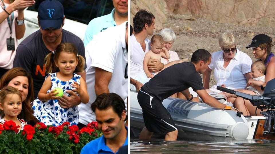 Tennis champion Roger Federer and wife Mirka are parents to twin girls, Myla Rose and Charlene Riva, and twin boys, Leo and Lennart.