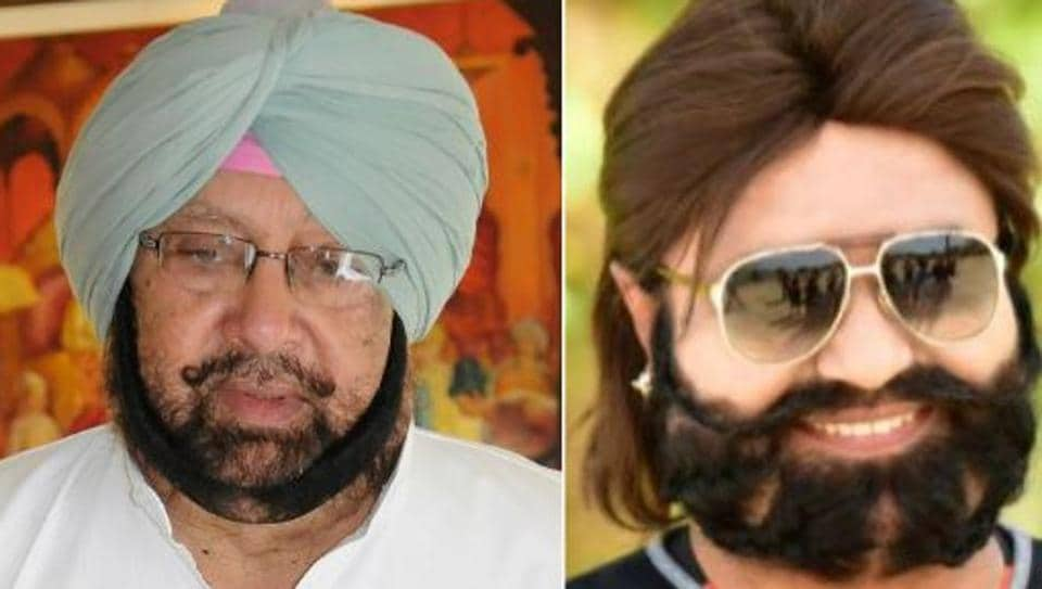 Punjab chief minister CaptainAmarinder Singh and (right) Dera Sacha Sauda chief Gurmeet Ram Rahim Singh.