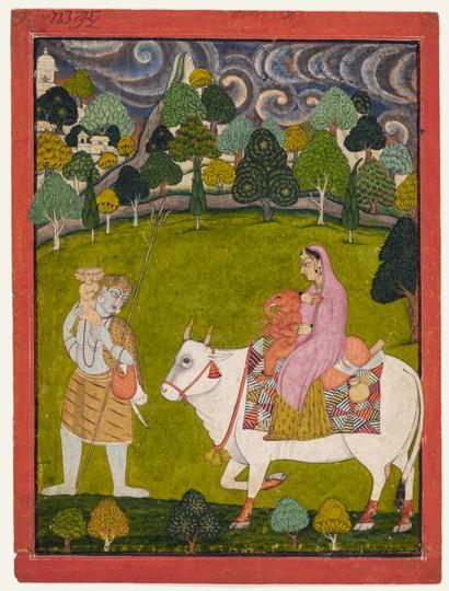 Shiva, the Great God, Leads his Family Homewards