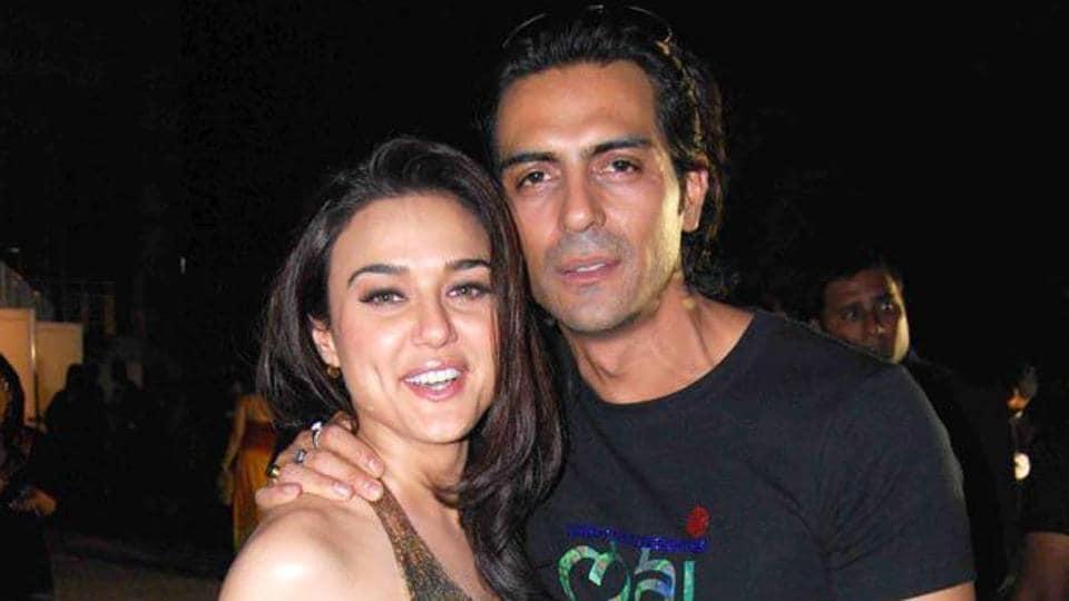 Actors Preity Zinta and Arjun Rampal