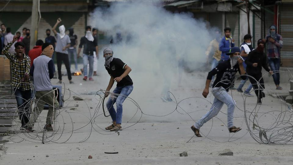 At least 10 other protesters were also injured in the clashes.