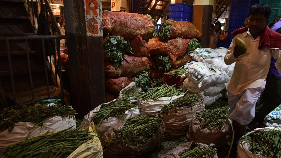 The prices of vegetables had reduced at the Turbhe APMCmarket onWednesday.