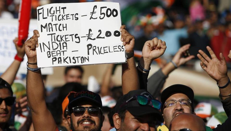 An Indian cricket fan at the India-Pakistan Champions Trophy match, Edgbaston, June 4, 2017