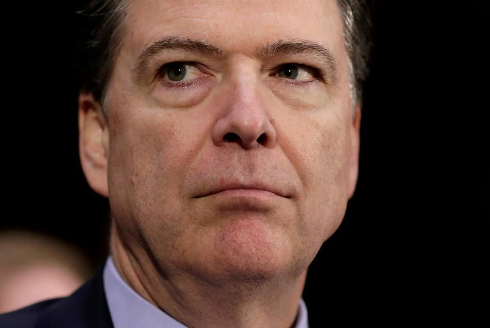 File photo of former FBI director James Comey.