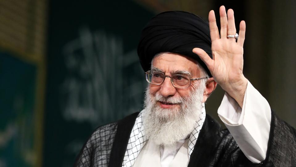 A handout picture provided by the office of Iran's Supreme Leader Ayatollah Ali Khamenei on June 7, 2017 shows him (C) delivering a speech to Iranian students in the capital Tehran. Gunmen and suicide bombers stormed Iran's parliament and the shrine of its revolutionary leader, killing 12 people in the first attacks in the country claimed by the Islamic State group.