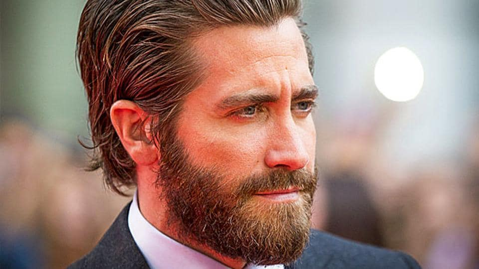 Jake Gyllenhaal at a red carpet event in Canada.