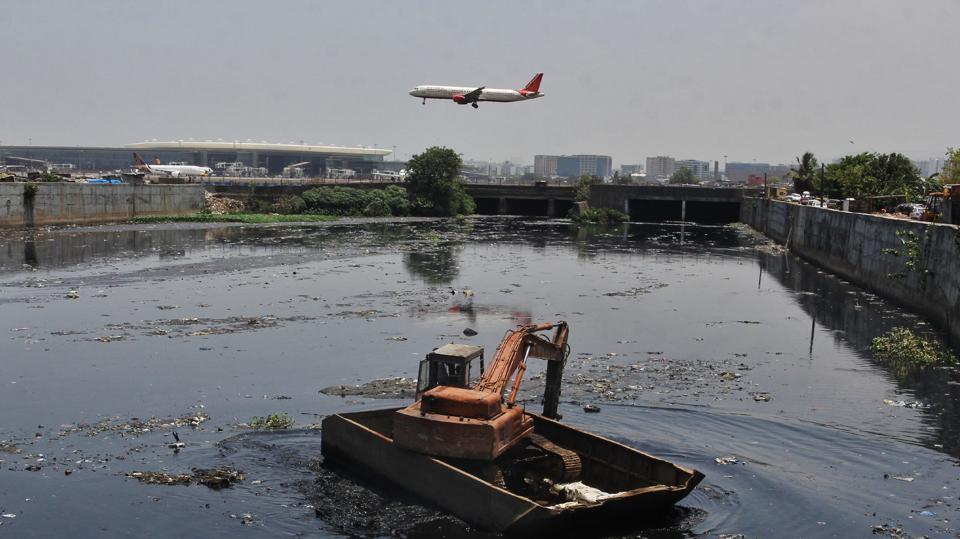 The Kranti Nagar nullah flows right under the airport runway.