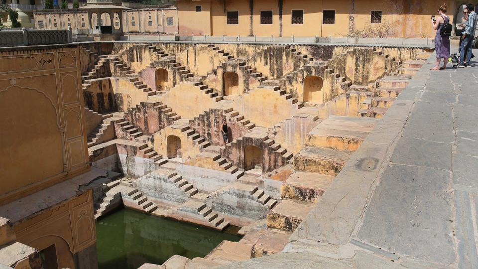 The oldest sources of water in the city - its glorious Baoris (stepwells) are mostly dilapidated while those renovated by the government are kept merely as tourist attractions with drawing water from them being prohibited. (HimanSHU VYAS / HT PHOTO)
