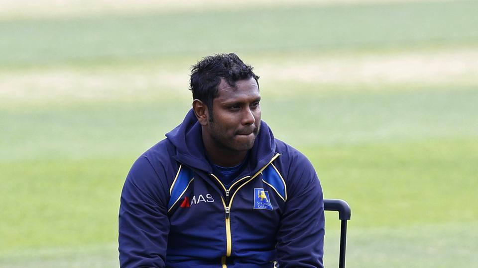 Sri Lanka's Angelo Mathews during a practice session ahead of their ICC Champions Trophy 2017 match against India.
