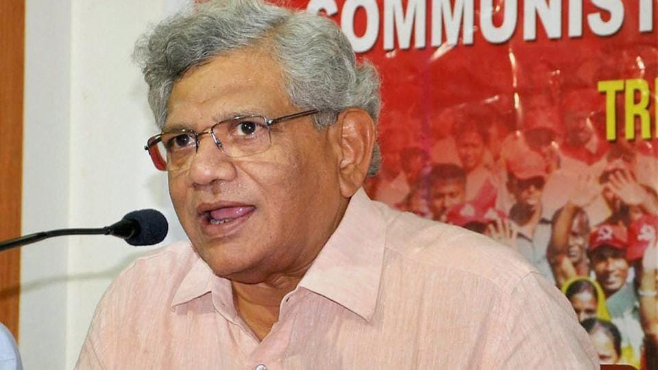 Hindu Sena activists detained for trying to 'manhandle, heckle' Yechury