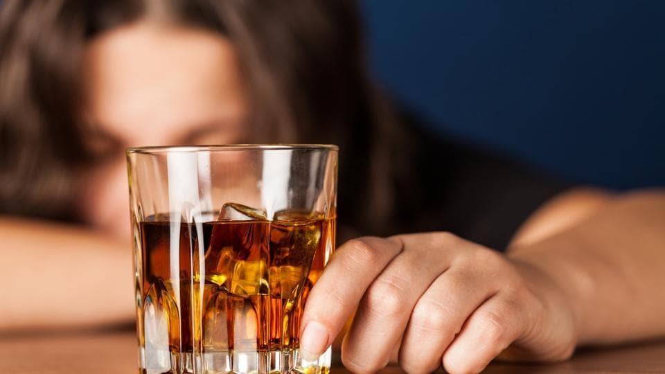 Binge drinking was defined as drinking four or more standard drinks of beer, wine or spirits per occasion for women.