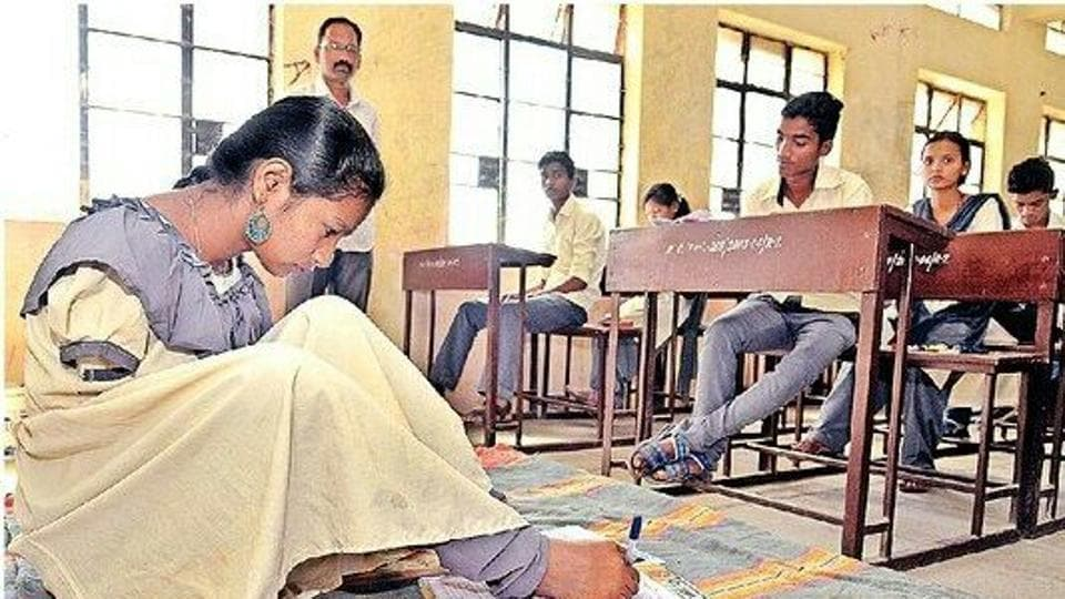 Laxmi Sanjay Shinde wrote her exams with her feet after she refused a writer provided by the state board.