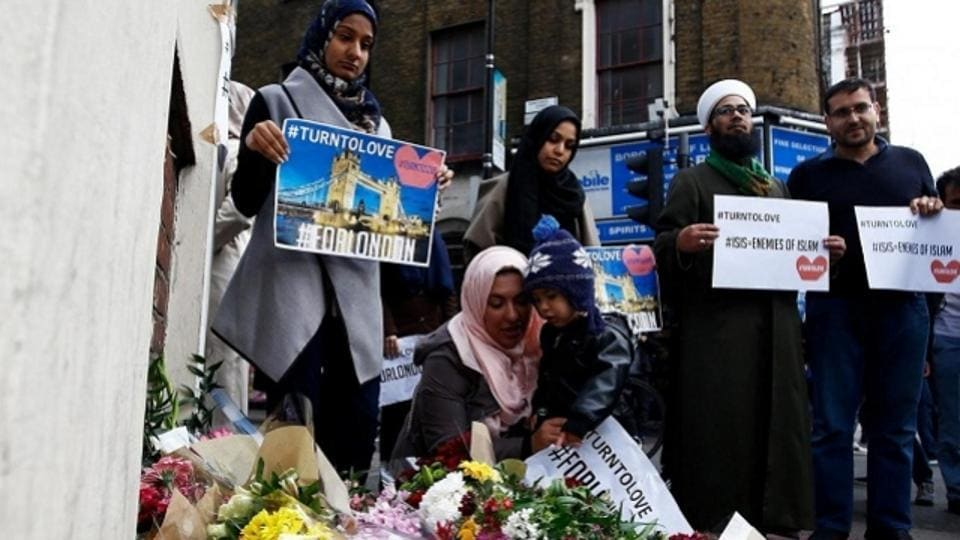 Twenty such crimes directed at Muslims were handled by the Metropolitan Police on Tuesday, compared with a daily average for 2017 of 3.5.