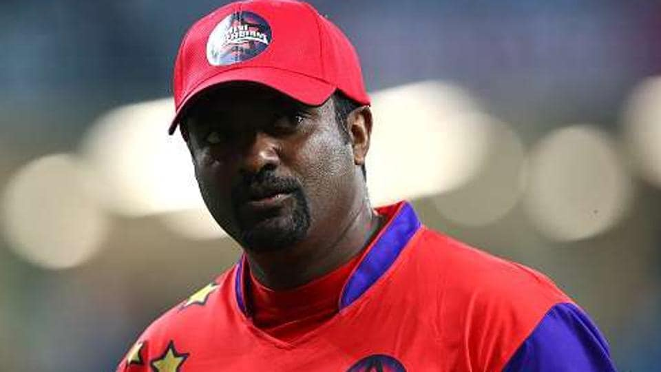 Muttiah Muralidaran was honoured during the innings break of the India versus Sri Lanka Champions Trophy match at The Oval.
