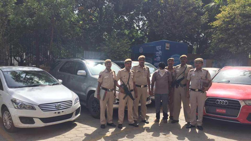 Police nabbed a suspect from Rajasthan for stealing cars from self-drive firms in Delhi.