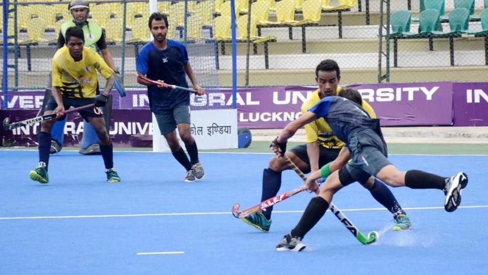 Action on at the 7th Senior National Hockey Championship 2017 on Wednesday.