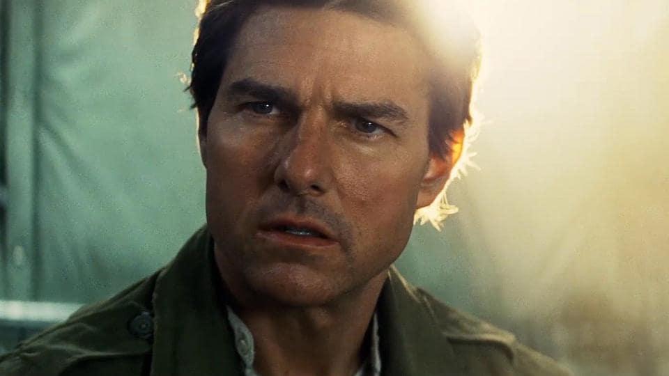 Tom Cruise is thinking.