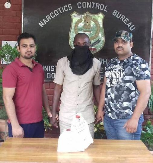The accused in Narcotics Control Bureau custody.