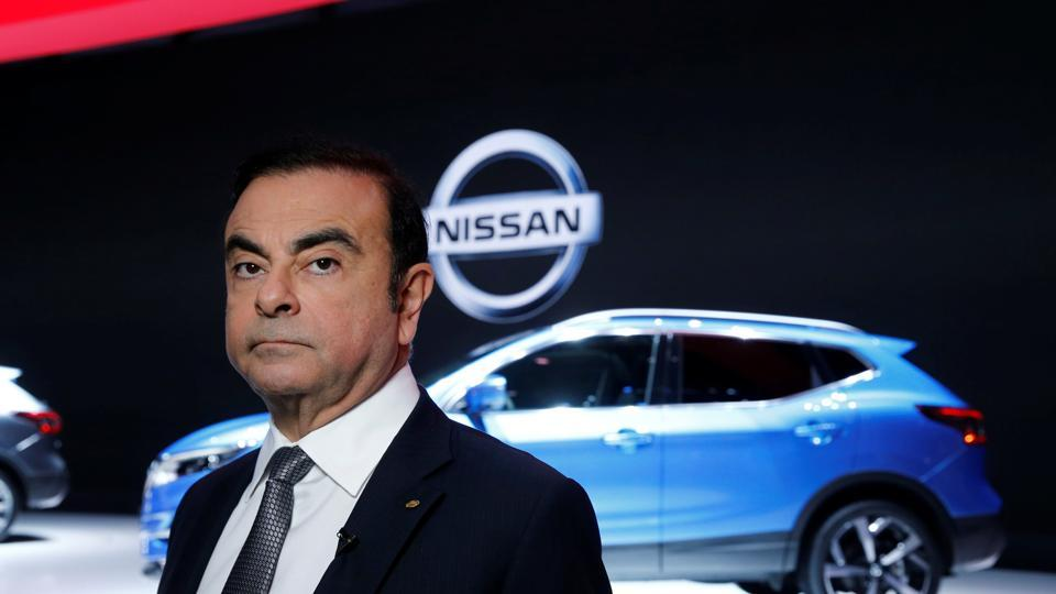 FILE PHOTO: Carlos Ghosn, chairman and CEO of the Renault-Nissan Alliance looks on during the 87th International Motor Show at Palexpo in Geneva, Switzerland, March 7, 2017. REUTERS/Denis Balibouse/File Photo