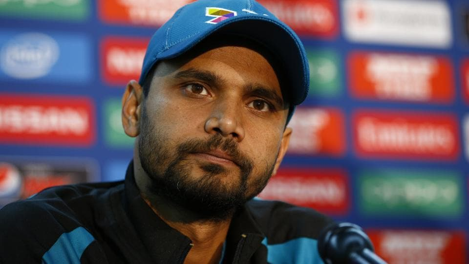 Bangladesh's Mashrafe Mortaza during the press conference ahead of their ICC Champions Trophy match against New Zealand.