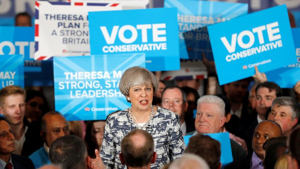 Britain's Prime Minister Theresa May is pitted against Labour leader Jeremy Corbyn in the election to be held on Thursday.
