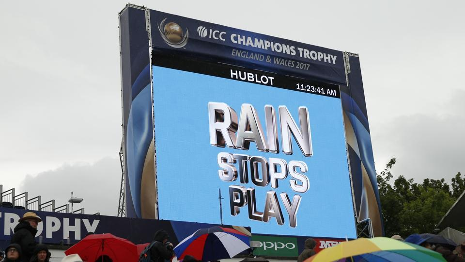 Australia's matches have been affected by rain in the ICC Champions Trophy 2017.