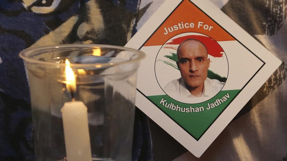 A candle lit during a demonstration in Mumbai in support of Indian naval officer Kulbhushan Jadhav who has been accused of espionage by Pakistan.