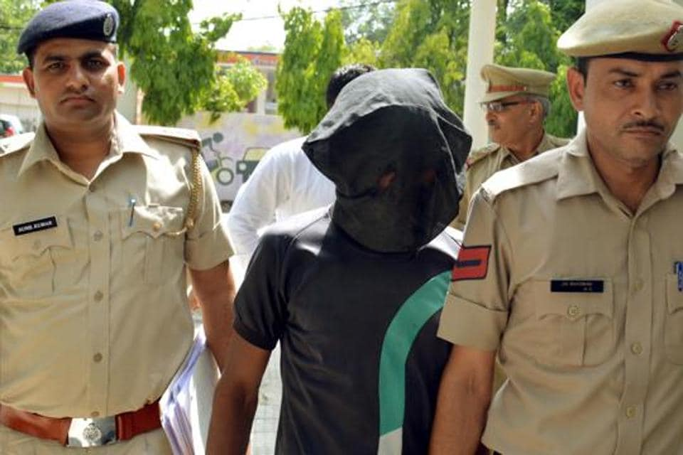 Gurgaon police arrested Yogendra, one of the accused in the Manesar gang-rape case, on Wednesday.