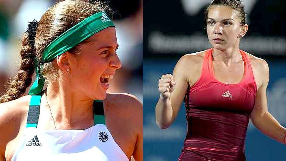 Simona Halep (right) will become world No 1 in the WTArankings if she is able to win the French Open final against Jelena Ostapenko, who is set to make history as the first Latvian to win a Grand Slam.