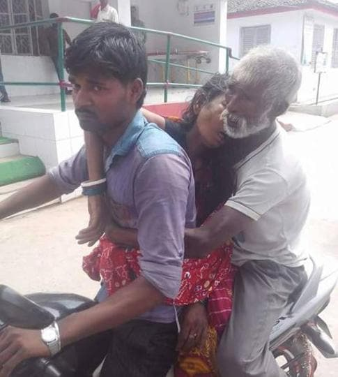 This image of daily wager Shankar Sah carrying his wife's corpse on a motorcycle still reverberates in Bihar.