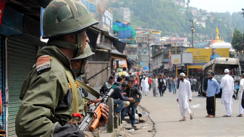 The army deployed additional columns in the hills on Friday as a precautionary step.