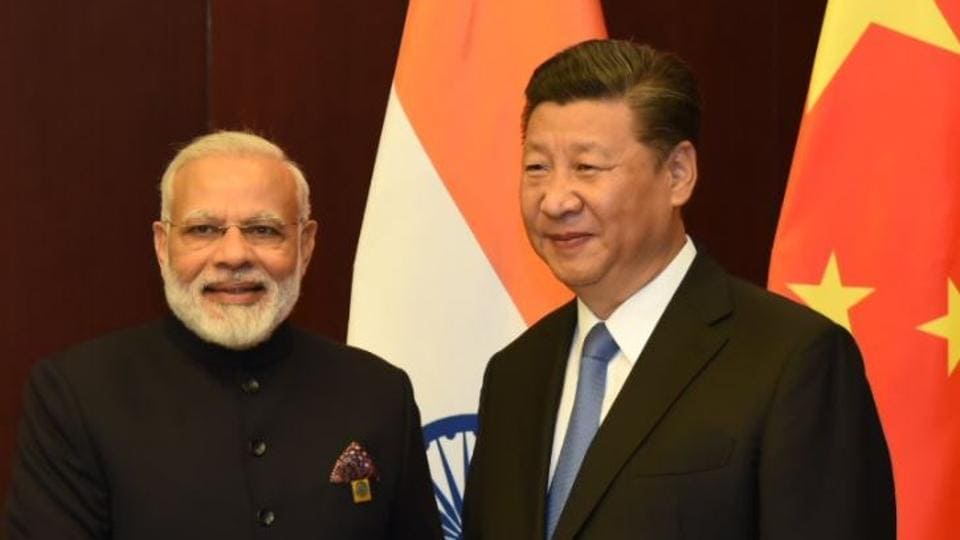 PM Narendra Modi meets Chinese President Xi Jinping on the margins of the SCO Summit in Astana, Kazakhstan.